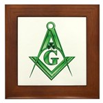 Masonic Shamrock Framed Tile
