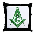 Masonic Shamrock Throw Pillow