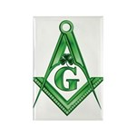 Masonic Shamrock Rectangle Magnet