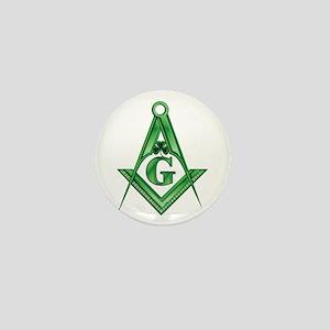 Masonic Shamrock Mini Button