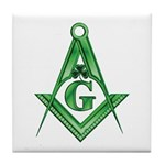 Masonic Shamrock Tile Coaster