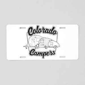 Colorado Campers Aluminum License Plate