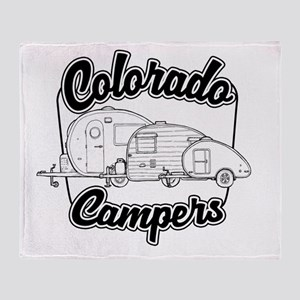 Colorado Campers Throw Blanket