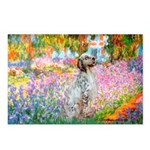 Garden / English Setter Postcards (Package of 8)