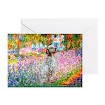 Garden / English Setter Greeting Cards (Pk of 20)