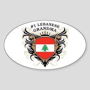 Number One Lebanese Grandma Oval Sticker