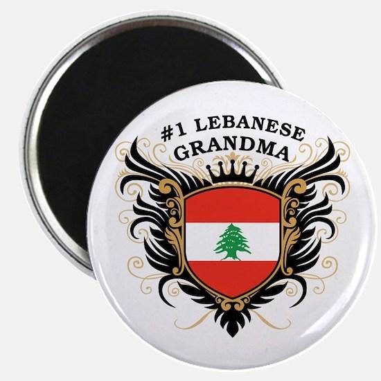 Number One Lebanese Grandma Magnet