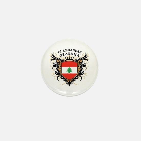 Number One Lebanese Grandma Mini Button