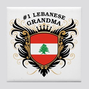 Number One Lebanese Grandma Tile Coaster