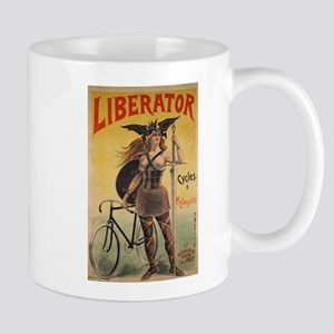 topless cyclist 11 oz Ceramic Mug
