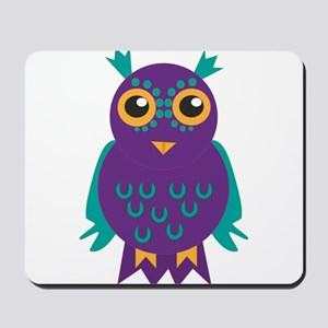 purple owl Mousepad