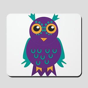 purple owl Mousepad