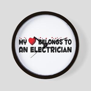 Belongs To An Electrician Wall Clock