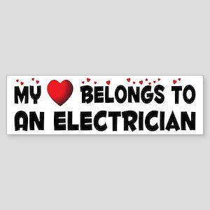 Belongs To An Electrician Bumper Sticker