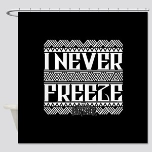 Black Panther Freeze Shower Curtain