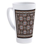 Edwardian Tile17 Oz Latte Mug