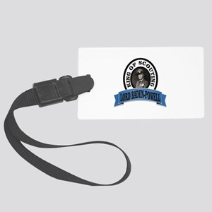 baden powell king of Scouts Large Luggage Tag