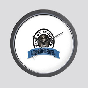 baden powell king of Scouts Wall Clock