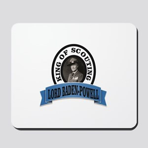 baden powell king of Scouts Mousepad