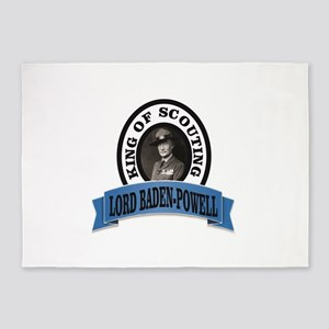 baden powell king of Scouts 5'x7'Area Rug