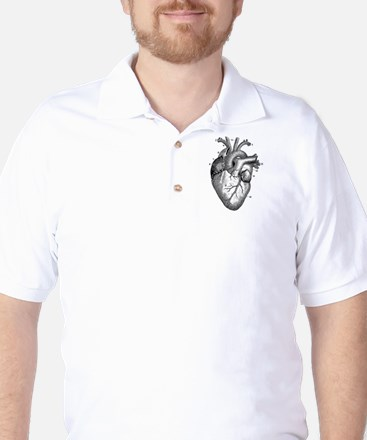 Vintage Heart 2 Golf Shirt