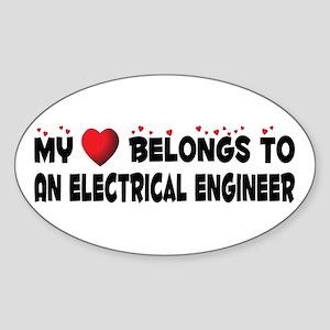 Belongs To An Electrical Engineer Oval Sticker