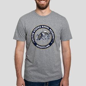 US Naval Academy Wrestling Mens Tri-blend T-Shirt