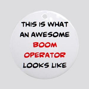 awesome boom operator Round Ornament
