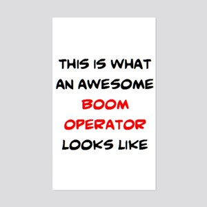 awesome boom operator Sticker (Rectangle)