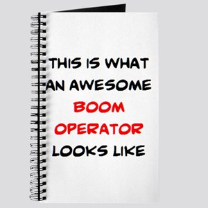 awesome boom operator Journal