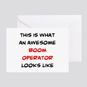 awesome boom operator Greeting Card