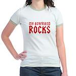 My Boyfriend Rocks Jr. Ringer T-Shirt