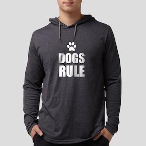 Dogs Rule Paw Pet Fan Long Sleeve T-Shirt