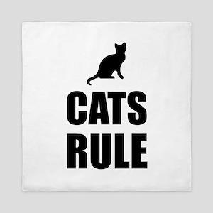 Cats Rule Pet Fan Queen Duvet