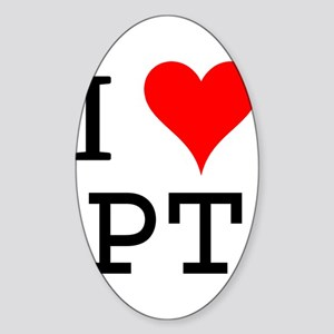 I Love PT Rectangle Sticker