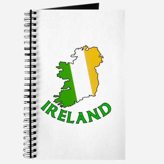 Map of Ireland in Green White and Orange Journal