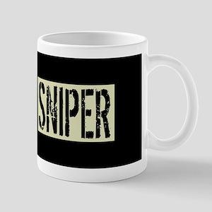 U.S. Military: Sniper (Black Fla 11 oz Ceramic Mug