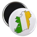 Tricolor Map of Ireland Magnet