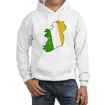 Tricolor Map of Ireland Hooded Sweatshirt