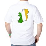 Tricolor Map of Ireland Golf Shirt