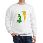 Tricolor Map of Ireland Sweatshirt