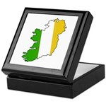 Tricolor Map of Ireland Keepsake Box
