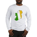 Tricolor Map of Ireland Long Sleeve T-Shirt