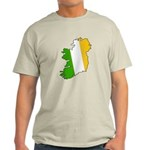 Tricolor Map of Ireland Light T-Shirt