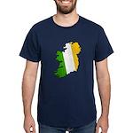 Tricolor Map of Ireland Dark T-Shirt