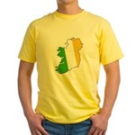Tricolor Map of Ireland Yellow T-Shirt