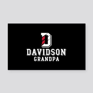Davidson University Grandpa Rectangle Car Magnet