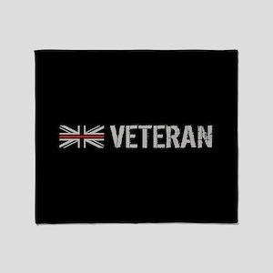 British Flag Red Line: Veteran Throw Blanket
