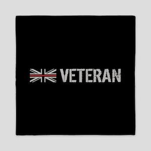 British Flag Red Line: Veteran Queen Duvet