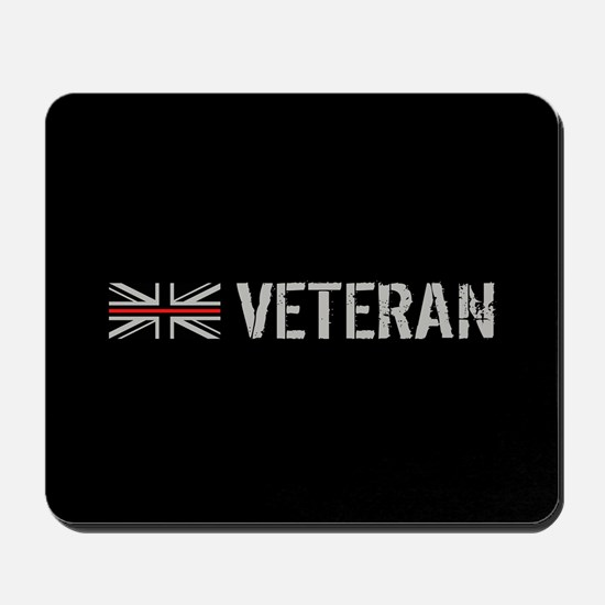 British Flag Red Line: Veteran Mousepad
